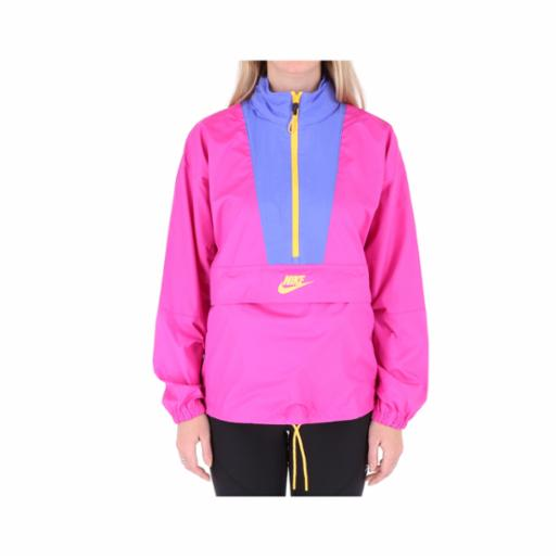 Chaqueta Nike Wmns Sportswear Icon Clash Fire Pink/Sapphire/Laser Orange